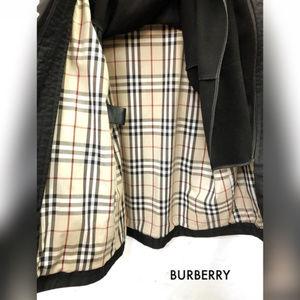 Burberry Jackets & Coats - BURBERRYS Black Check Plaid Lined Black Large Coat